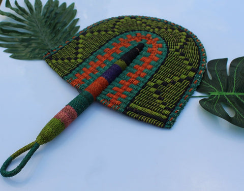 handwoven and decorative fan