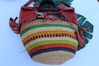 Colourful straw bag