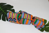 African print wired head wrap / head tie / Headband - Kente print