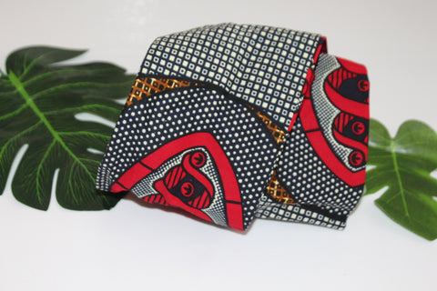 African print wired head wrap / head tie / Headband - Mixed print