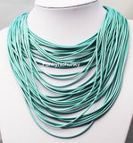 Multi String wax Statement Necklace
