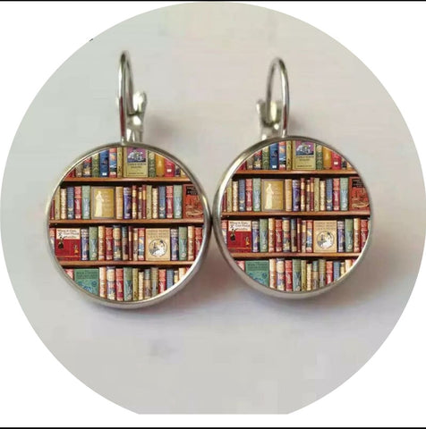 Book photo earrings