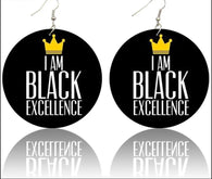 I am black excellence - earrings