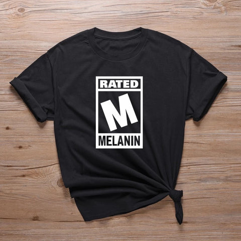 Rated M - Melanin Graphic - T Shirts