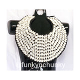 Cowrie statement necklace