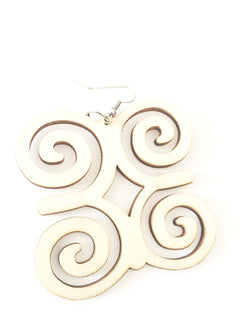 Adinkra earrings - wooden