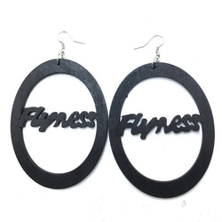 Flyness wooden earrings