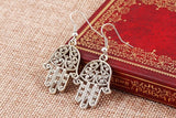 Silver hands of Hamsa earrings