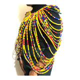 African Multi Strand - Handmade Cape Necklaces (kente print)