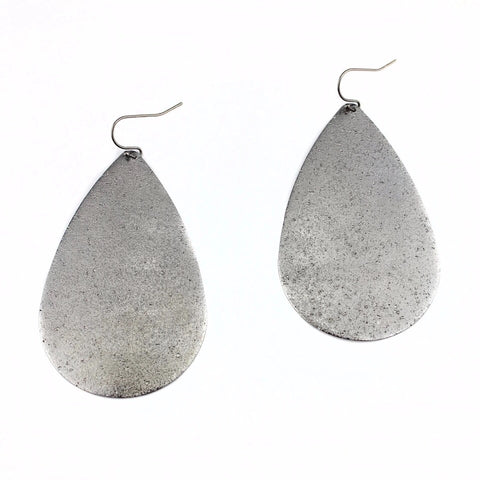 Large Teardrop Dangle Earrings