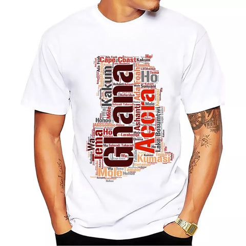 Ghana city and town names t-shirt - white