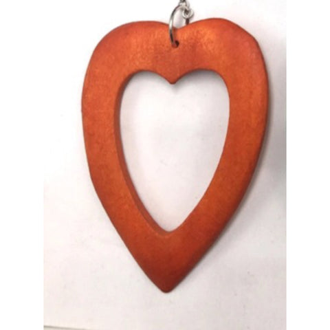 Heart shaped earrings - Wooden