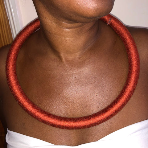 Bronze circular statement necklace - South African necklace