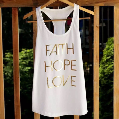 Faith Hope and Love - Racerback Cotton