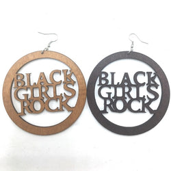 Black Girls Rock Wooden Earrings
