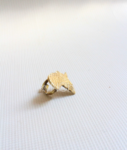 Brass Africa Ring unisex and adjustable