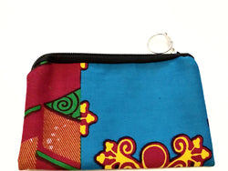 Zipper pouch/make up purse - (Ankara)