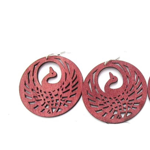 Peacock Wooden Earrings