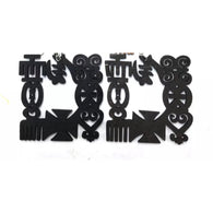 Adinkra Symbol Wood Earrings - Black