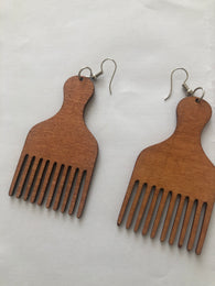 Afro pic - afro hair comb - tan
