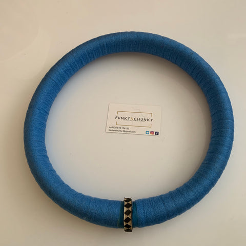 Blue circular statement necklace - South African necklace