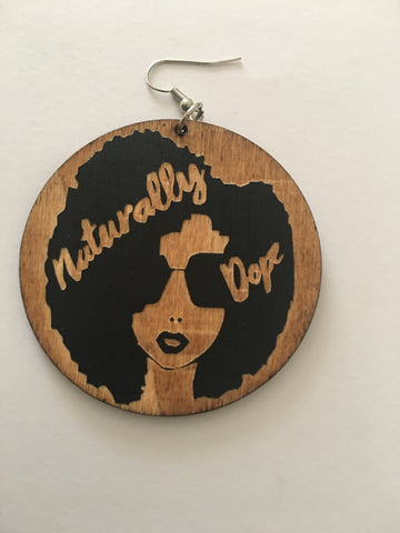 Naturally dope - afro earrings