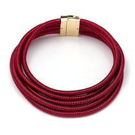 Red rope choker statement necklace