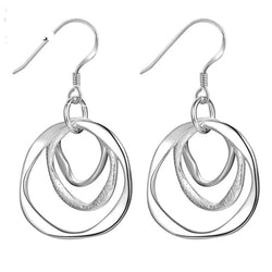 Silver hooped earrings