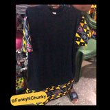 Black African print t-shirt - Extra Large