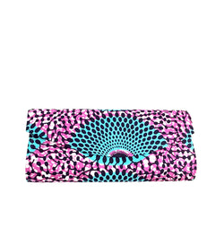 African print clutch bag - medium