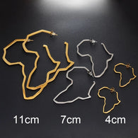 Large African Map Big Earrings Exaggerate - two sizes