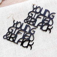 Young, gifted and black earrings