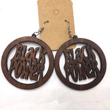 Black Power Circle Earrings