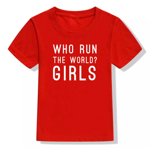 Who Run The World Girls - Children's Casual Top