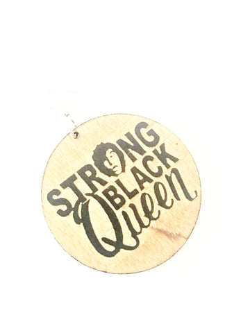 Strong black queen - wooden earrings