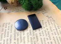 Polished Shungite Circular Plates for Phone