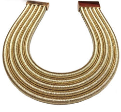 Gold rope choker statement necklace