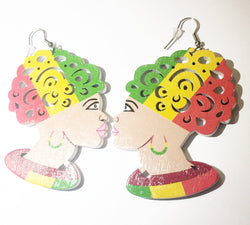 Headwrap earrings - rasta