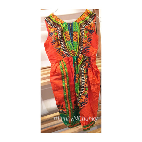 Dashiki children's jumpsuit - Age 3