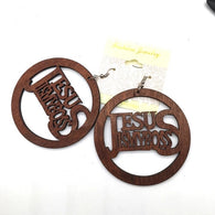 Jesus is my boss Wooden Earrings