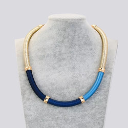 Silk Thread Round Rope Choker Necklace