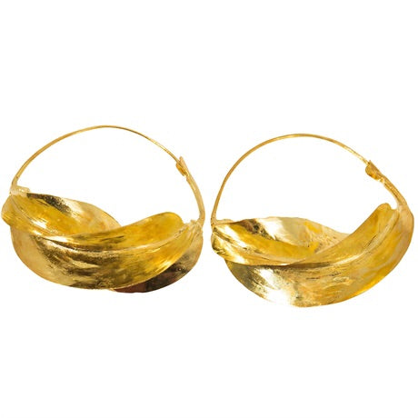 Brass Fulani earrings 2.5 inch
