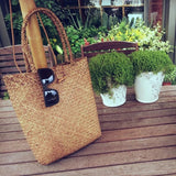 Wicker Rattan Straw Tote Bag
