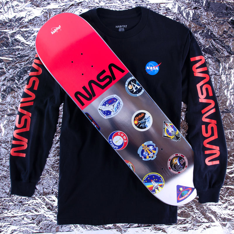 NASA WORM REPEAT LONGSLEEVE TEE