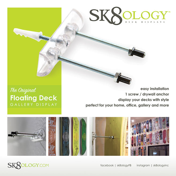 SK8OLOGY DECK WALL MOUNT DISPLAY