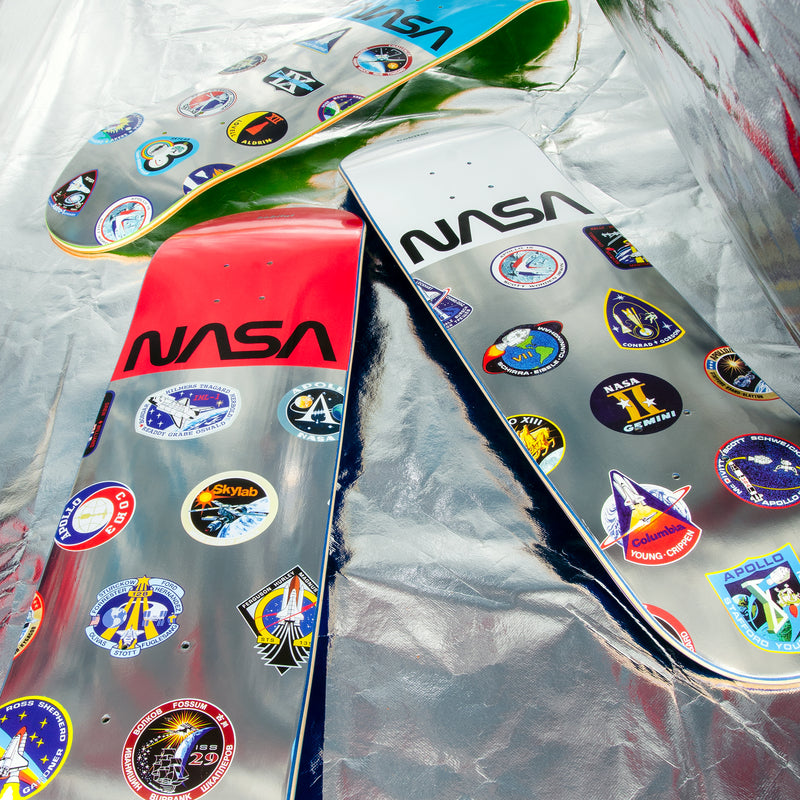 NASA LOGO ARRAY BLUE 8.25""