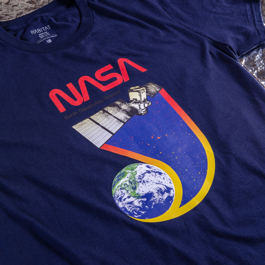 NASA EARTH OBSERVER FRONT PRINT TEE