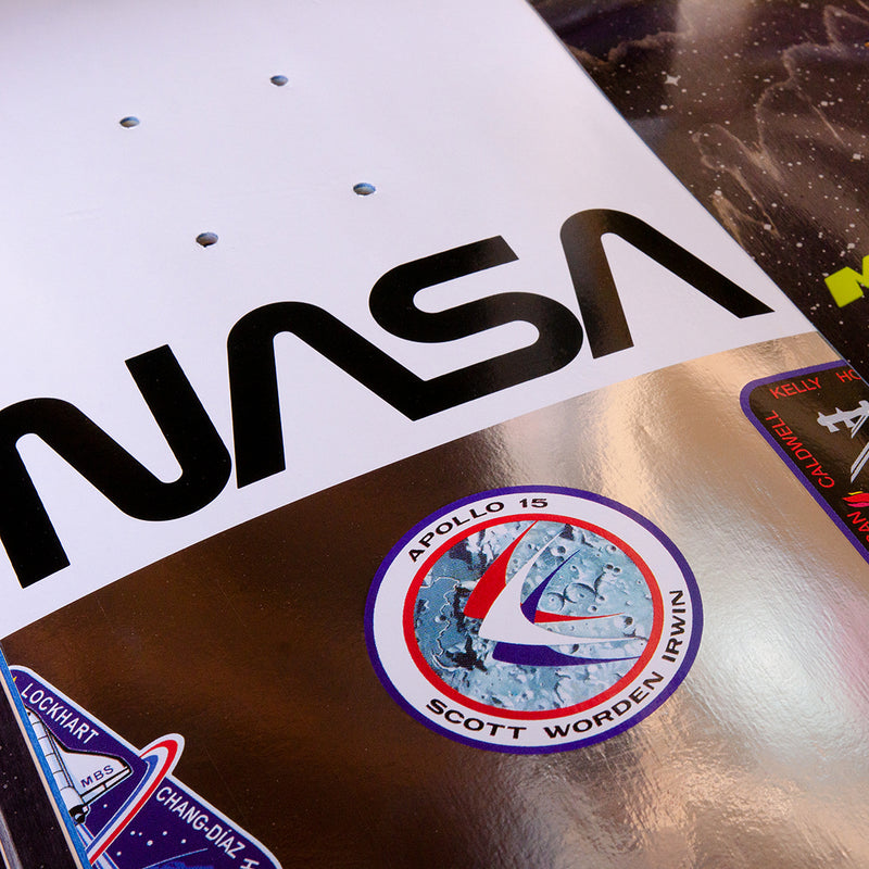 NASA LOGO ARRAY WHITE 8.0""