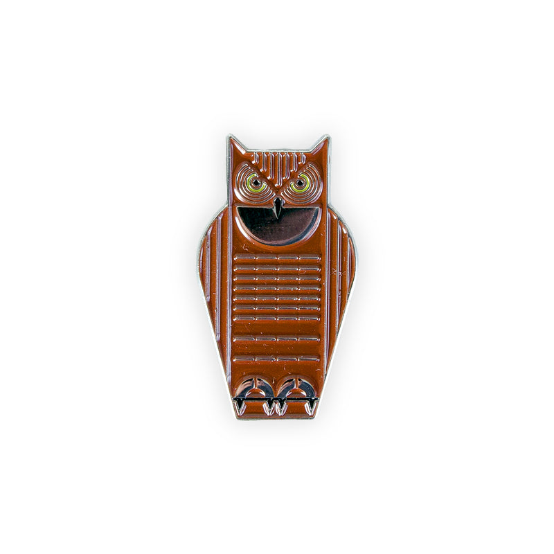 HARPER GREAT HORNED OWL ENAMEL PIN