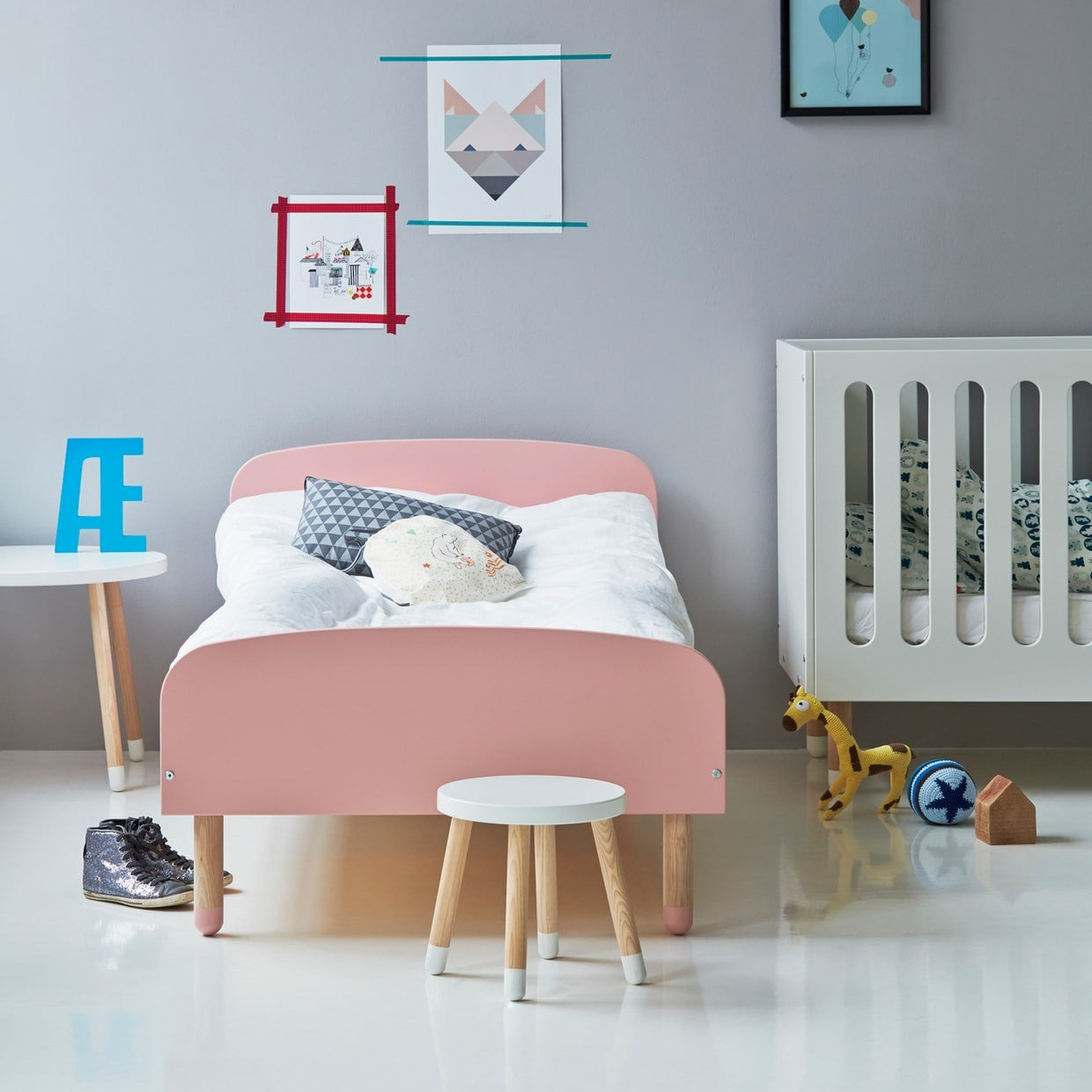 flexa kinderbett play in rosa online kaufen kidswoodlove. Black Bedroom Furniture Sets. Home Design Ideas